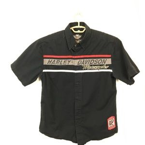 Harley Davidson Mechanic Style Snap Front Shirt M